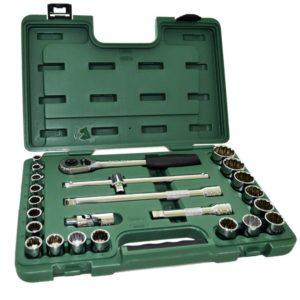 Jogo de Soquetes 1/2 Estriado com 24 peças 9 a 32mm ST09060SJ Sata