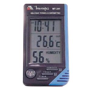 Relógio Termo-Higrômetro Digital (Interno/Externo) MT-241 Minipa