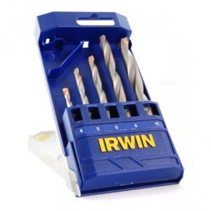 Jogo de Brocas para Concreto com 5 Peças 4 a 10mm 891503 Irwin