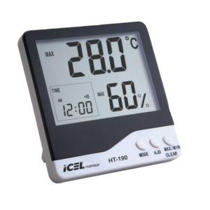 Relógio Termo-Higrômetro Digital (Interno/Externo) HT-190 Icel