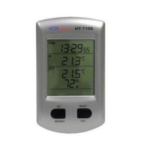 Relógio Termo-Higrômetro Digital sem Fio HT-7100 Icel
