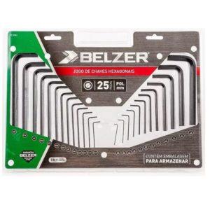 Jogo Chave Allen com 25 Peças MM/POL 09120BZ Belzer