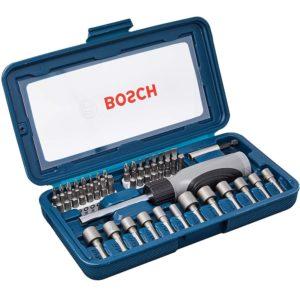 Jogo de Bits e Soquetes para Aparafusar com 46 Peças Bosch