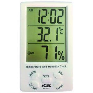 Relógio Termo-Higrômetro Digital (Interno) HT-200 Icel