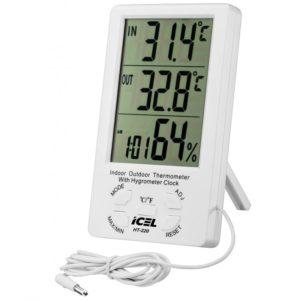 Relógio Termo-Higrômetro Digital (Interno/Externo) HT-220 Icel
